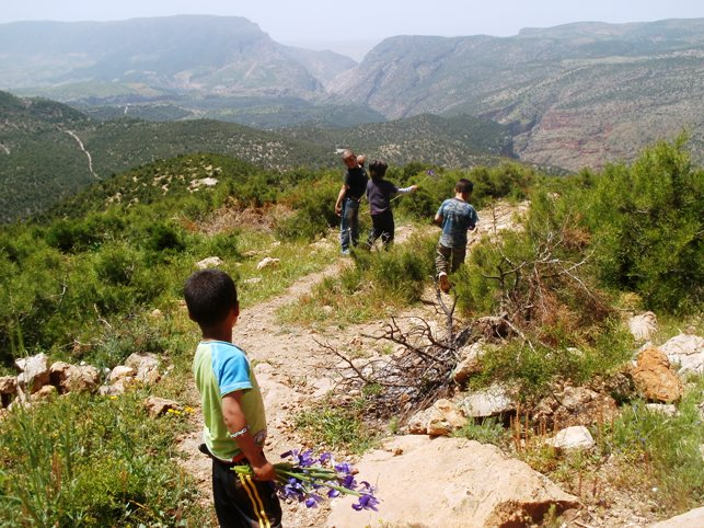 The boys in the Atlas Mountains, Morocco