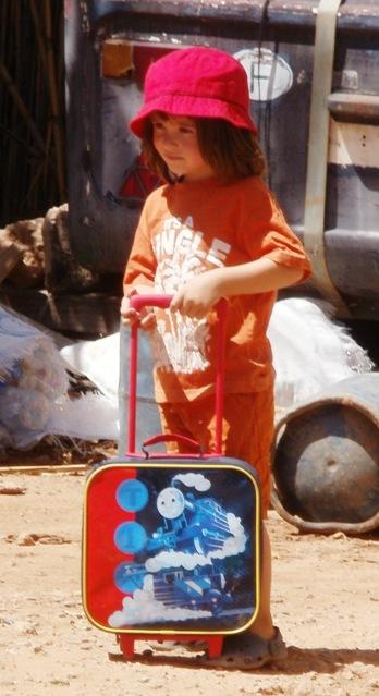 My little traveller, aged 3, 2011