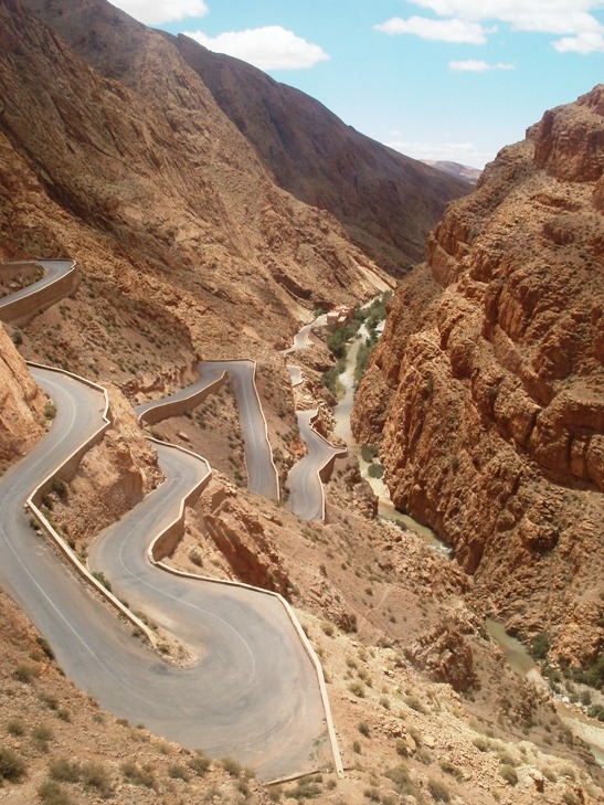 Todgha Gorge, Todra Gorge, Morocco, road, mountain road