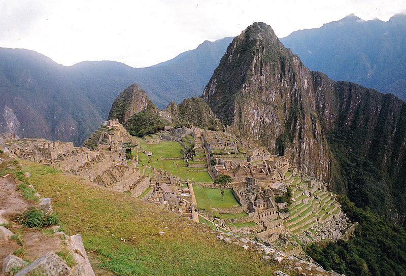 The ruined Inca city Machu Picchu (Creative Commons image. Copyright: Peter van der Sluijs)
