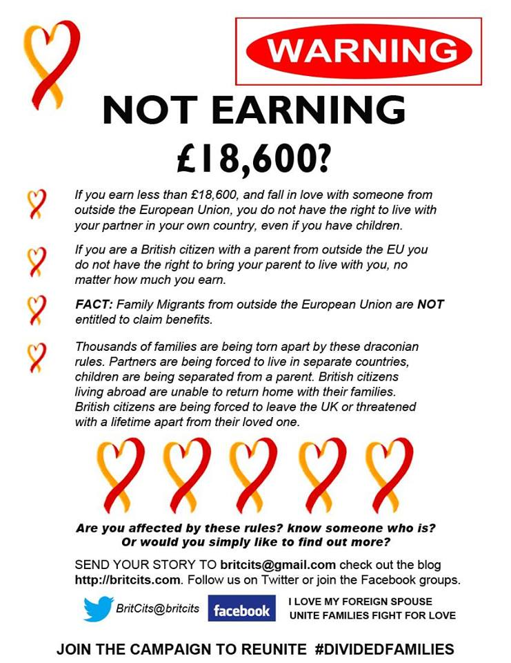 BritCits campaign: Not earning £18,600?